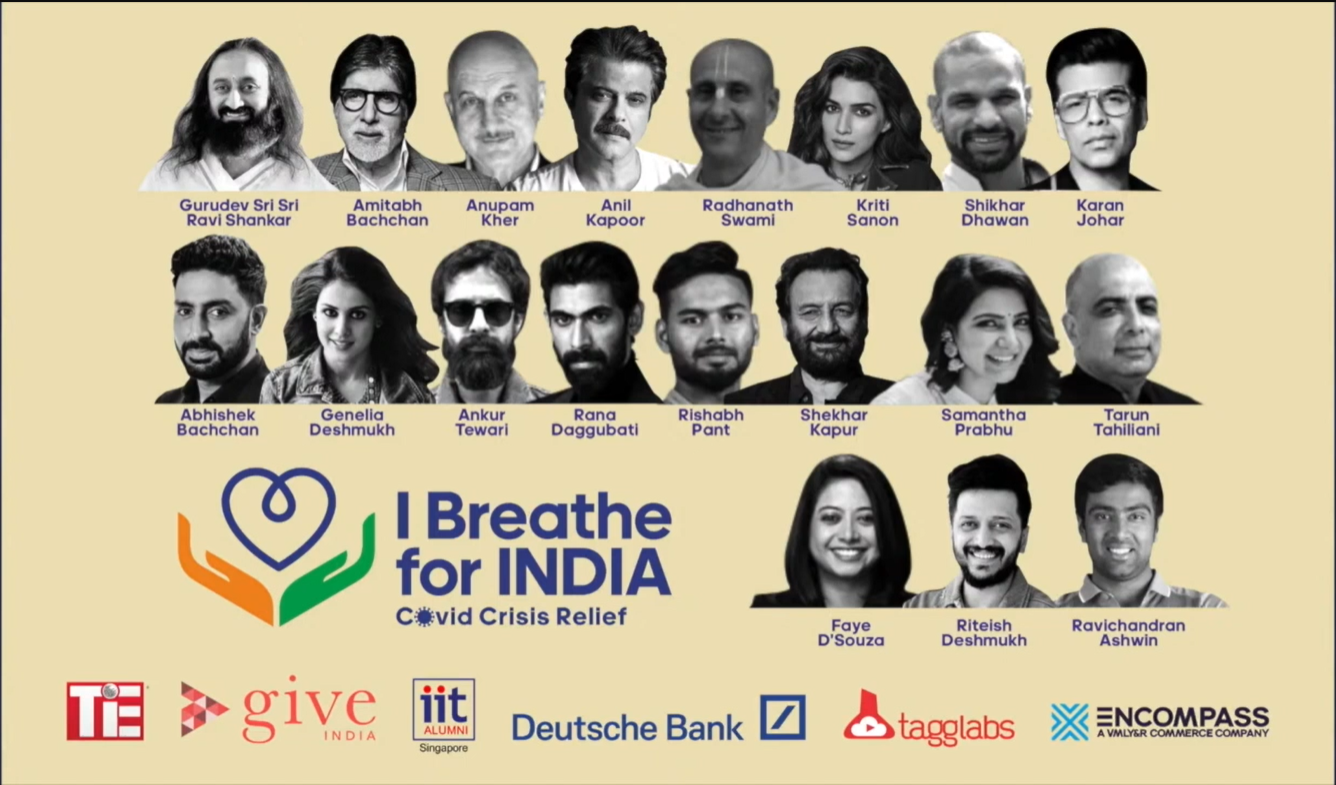 Together we can make a difference. I BREATHE FOR INDIA.